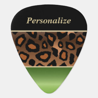 Jaguar verde y negro el | del Peridot personaliza Plumilla De Guitarra