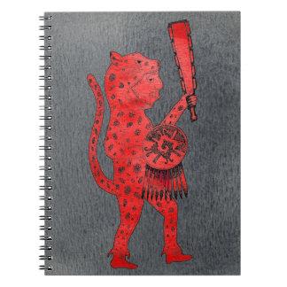 Jaguar Warrior Notebook (red)