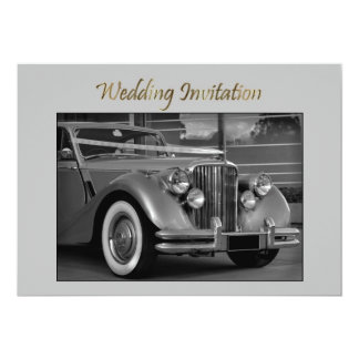 JAGUAR WEDDING CAR Wedding Invitation