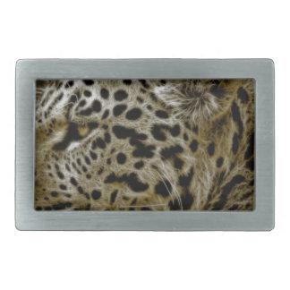 Jaguar Wild Animal Rectangular Belt Buckle
