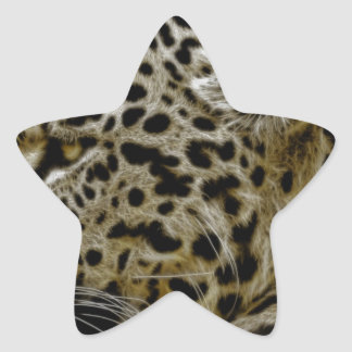 Jaguar Wild Animal Star Sticker