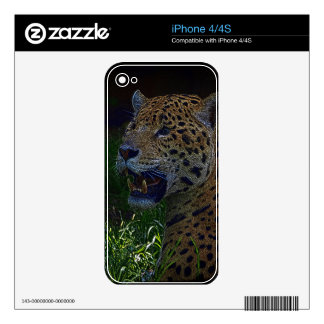 Jaguar Wild Cat Animal-Lover Electronics Skins iPhone 4S Skin