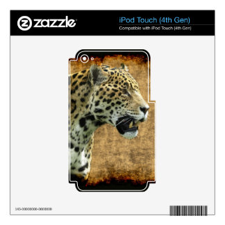 Jaguar Wild Cat Animal-Lover Electronics Skins iPod Touch 4G Decals