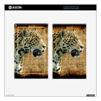 Jaguar Wild Cat Animal-Lover Electronics Skins Skin For Kindle Fire