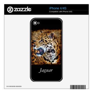Jaguar Wild Cat Animal-Lover iPhone Skin Decals For iPhone 4S