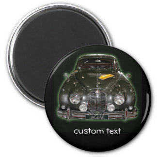 Jaguar  with custom text 2 inch round magnet