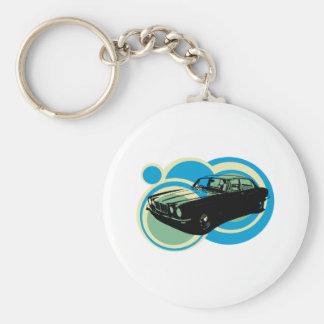 Jaguar XJ6 classic british car Basic Round Button Keychain