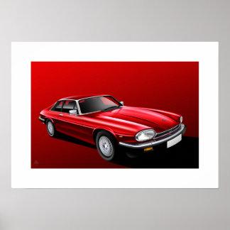 Jaguar XJ-S Poster