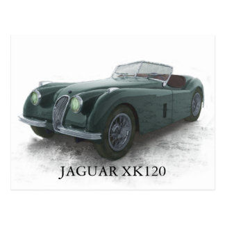JAGUAR XK120 POST CARD