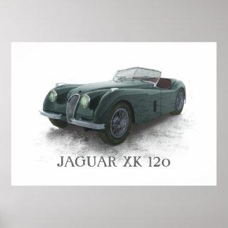 Jaguar Xk120 Póster