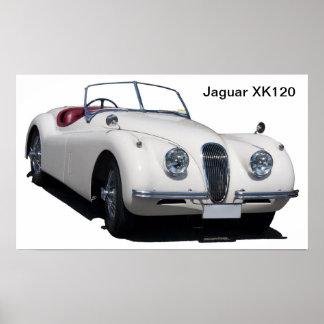Jaguar XK120 Poster