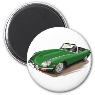 Jaguar XKE Green Car Magnet