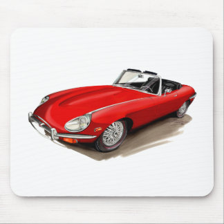 Jaguar XKE Red Car Mouse Pad