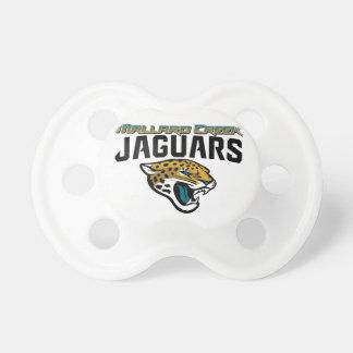 Jaguares de la cala del pato silvestre del fútbol  chupete de bebé