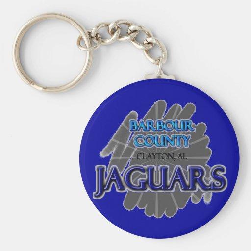 Jaguares de la High School secundaria del condado  Llavero