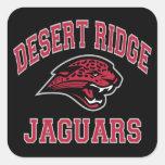 Jaguares de Ridge del desierto Calcomanías Cuadradass Personalizadas