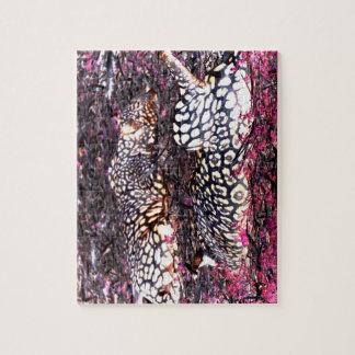 jaguars lying down purple black inverted puzzle