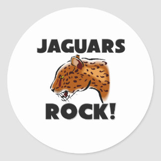 Jaguars Rock Round Stickers