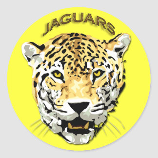 JAGUARS ROUND STICKERS