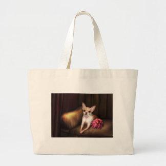 """Jaguarwoman's """"Chihuahua Portrait I"""" Bags"""