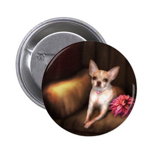 """Jaguarwoman's """"Chihuahua Portrait I"""" Button"""