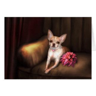 "Jaguarwoman's ""Chihuahua Portrait I"" Greeting Cards"