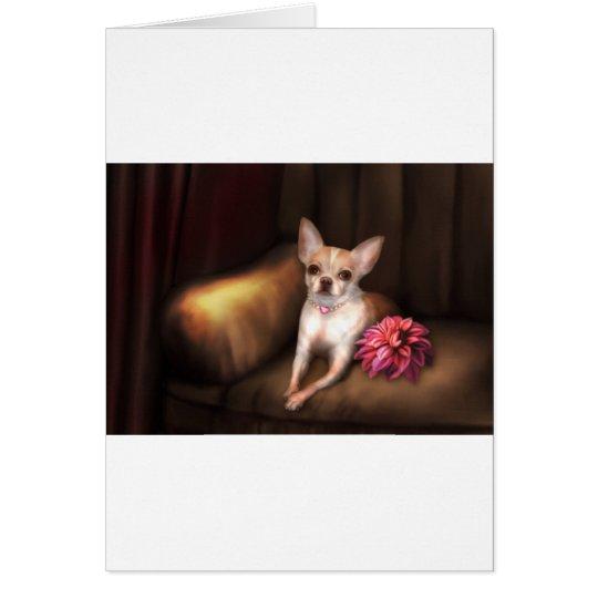 "Jaguarwoman's ""Chihuahua Portrait I"" Card"