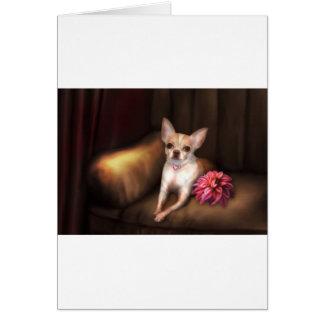 "Jaguarwoman's ""Chihuahua Portrait I"" Greeting Card"