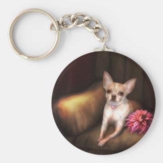 "Jaguarwoman's ""Chihuahua Portrait I"" Key Chains"
