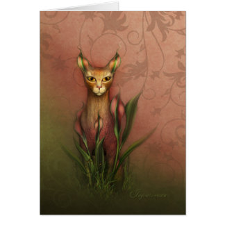 "Jaguarwoman's ""Fantasy Cat #1"" Stationery Note Card"