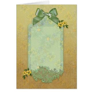 """Jaguarwoman's """"Floral Card"""" Card"""