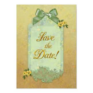"Jaguarwoman's Floral ""Save The Date"" Invitations"