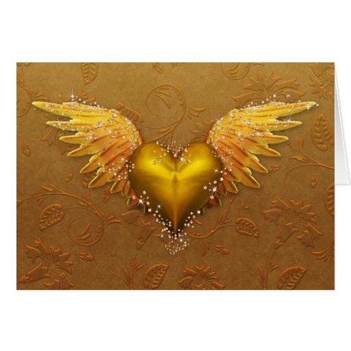 "Jaguarwoman's ""Goldenheart"" Greeting Card"