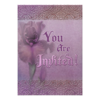 "Jaguarwoman's ""Iris Themed Invitation"""