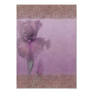 "Jaguarwoman's ""Mauve Iris Invitation Blank"""