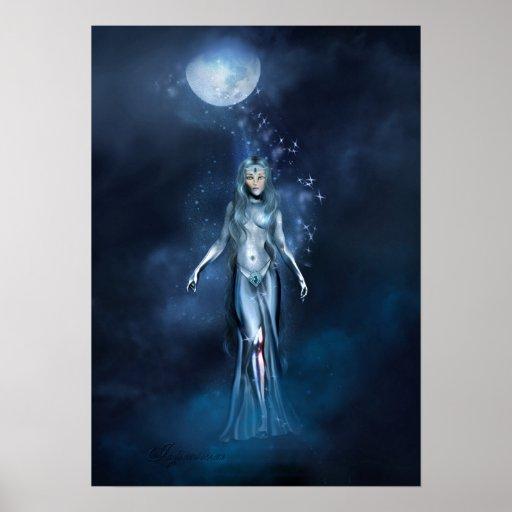 """Jaguarwoman's """"Moon Fugue"""" Poster"""