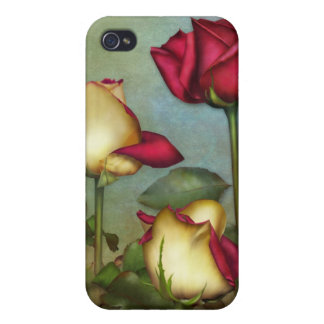 "Jaguarwoman's ""Red & & Yellow Roses"" iPhone Case iPhone 4/4S Covers"