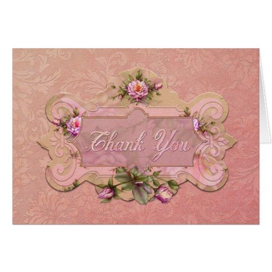 """Jaguarwoman's """"Rose Pink"""" Thank You Card"""