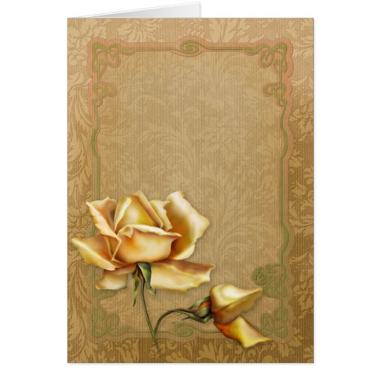 """Jaguarwoman's """"Special Occasions Yellow Roses II"""" Card"""