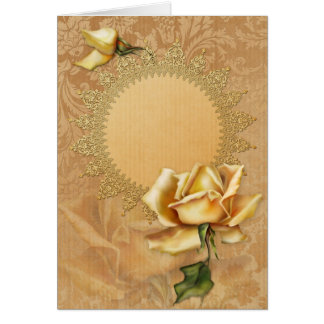 "Jaguarwoman's ""Yellow Rose Special Occasions I"" Greeting Card"
