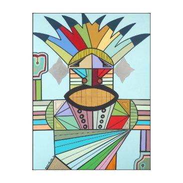 Aztec Themed JAH Conqueror Canvas Print