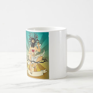 Jah in the morning coffee taza
