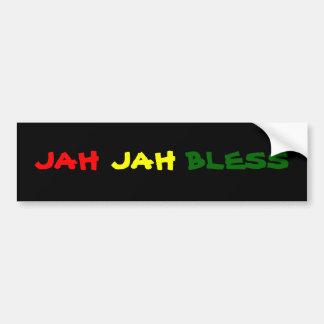 JAH JAH BLESS CAR BUMPER STICKER