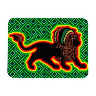Jah King Rasta Lion Flexible Magnets