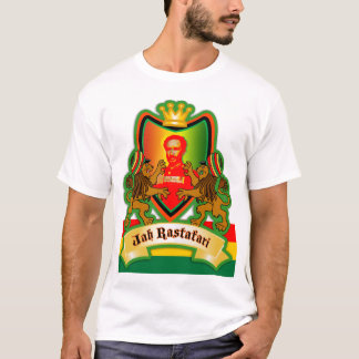 Jah King Rastafari Crest T-Shirt