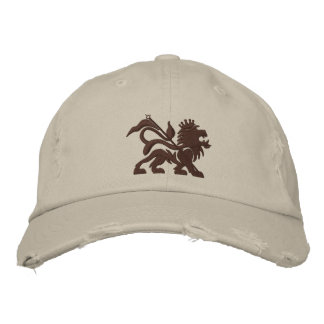 jah lion emboidered tuff hat embroidered baseball cap