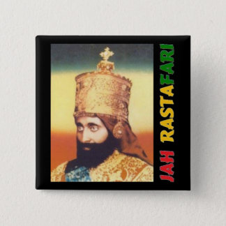 Jah Rastafari Badge Button