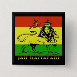 Jah Rastafari Badge Pinback Button