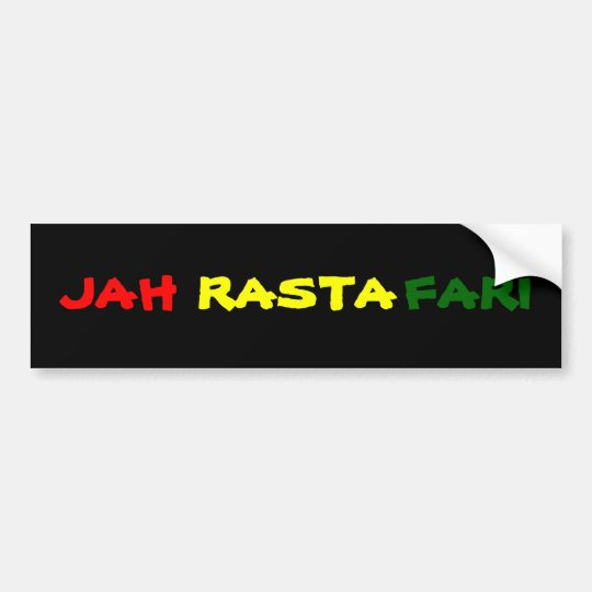 JAH RASTAFARI BUMPER STICKER