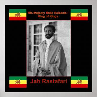 Jah Rastafari, Haile Selassie I Canvas Print 3 ft